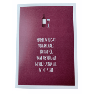 People Who Say You are Hard to Buy for...' Humourous Greeting Card - Lady of the Lake
