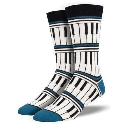 Piano Stripe Men's Bamboo Socks - Lady of the Lake