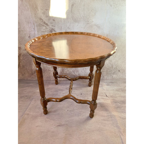 Pie Crust Walnut End Table - Lady of the Lake