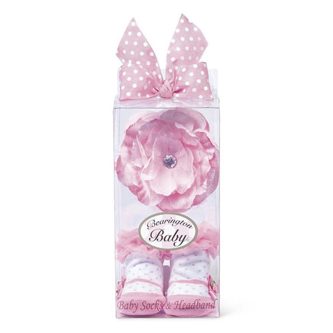 Pink Blooms Sock & Headband Gift Set - Lady of the Lake