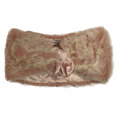 Pink Faux Fur Stole - Lady of the Lake