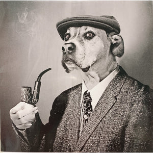 Pipe Smoking Suit Dog - Greeting Card - Blank - Lady of the Lake