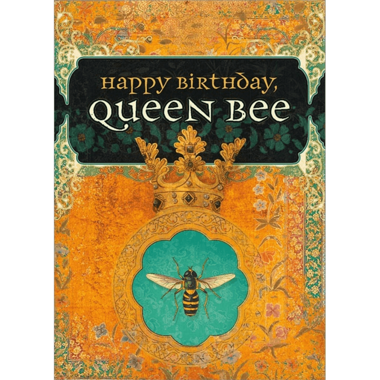 'Queen Bee' Greeting Card with Gorgeous Bee Illustration - Lady of the Lake