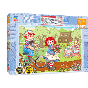 Raggedy Ann and Andy Bicycle 60 Piece Puzzle - Lady of the Lake