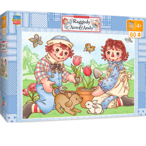 Raggedy Ann and Andy Tulips 60 Piece Puzzle - Lady of the Lake
