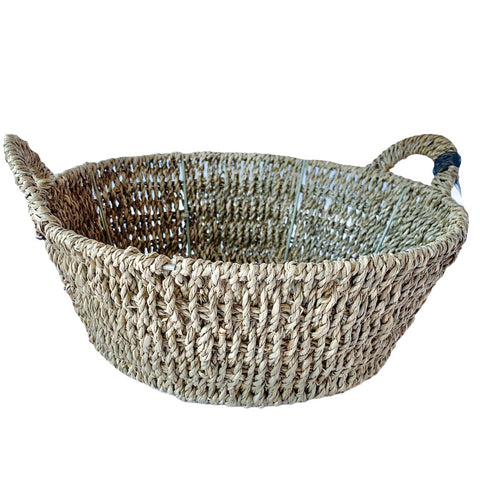 Round Seagrass Basket with Handles - Lady of the Lake