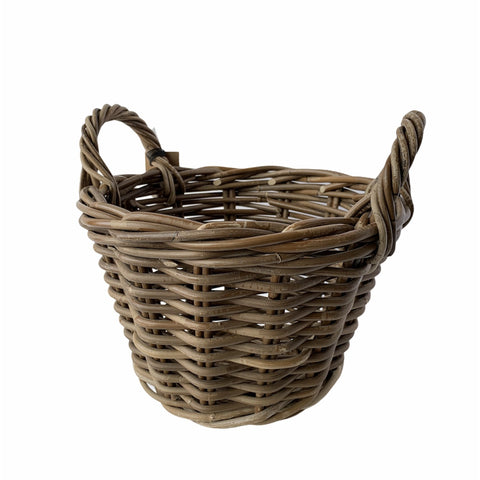 Round Willow Basket With Handles - Lady of the Lake
