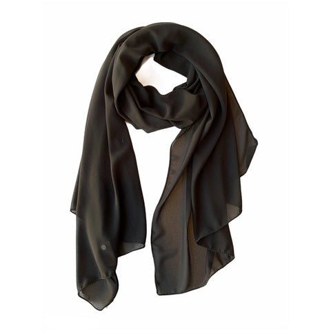 Sheer Scarf in Black or White - Lady of the Lake