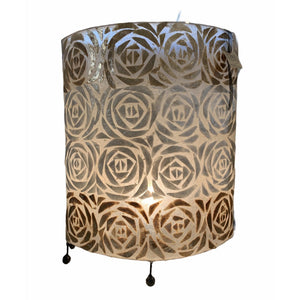 Shell Lamp with Rose Pattern - Lady of the Lake