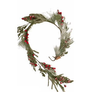 Snowy Mixed Green Garland - Lady of the Lake