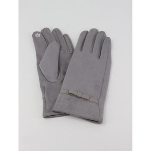 Soft Suede Stitched Bow Touch Screen Glove - Lady of the Lake