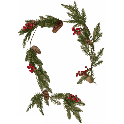 Spruce Garland With Red Berries - Lady of the Lake
