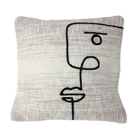 Squiggle Face Pillow - Lady of the Lake