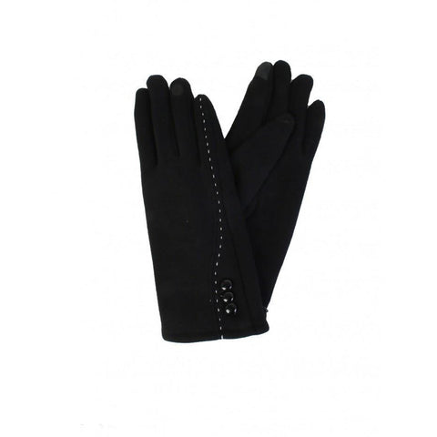 Stitched Button Touch Screen Glove - Lady of the Lake