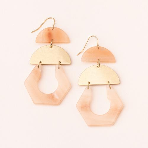 Stone Cutout Earring - Sunstone - Lady of the Lake