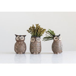 Stoneware Owl Vase - Lady of the Lake