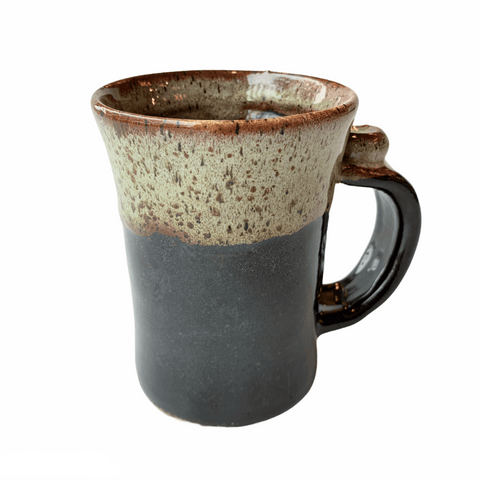 Tall Brown Pottery Mug - Lady of the Lake