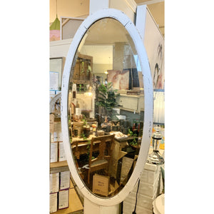 Tall Oval Antique Painted Mirror - Lady of the Lake