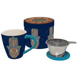 Tea Infuser Mug Set - Hamsa - Lady of the Lake