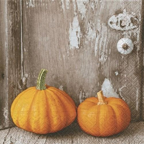 Two Pumpkins - Paper Napkin - Lady of the Lake