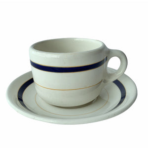 Vintage Rideways Blue Striped Cup & Saucer - Lady of the Lake