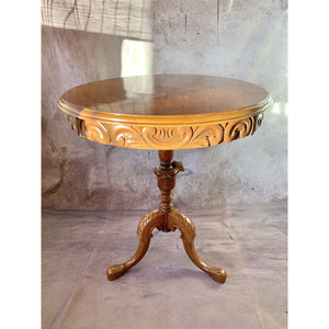 Walnut Pedestal Table - Lady of the Lake