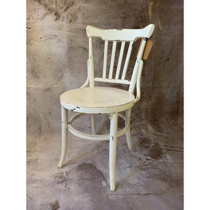 White Chair With Round Seat - Lady of the Lake