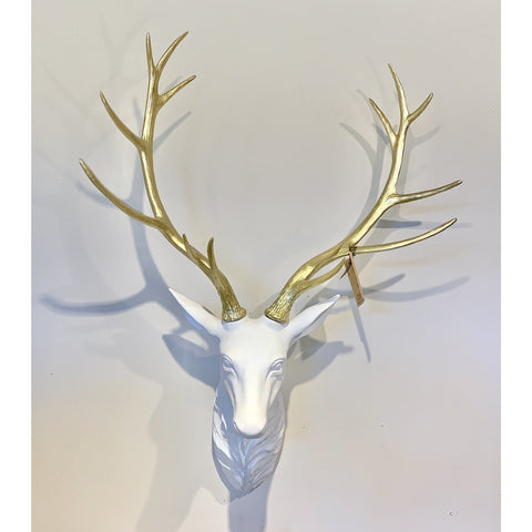 White & Gold Deer Head - Lady of the Lake