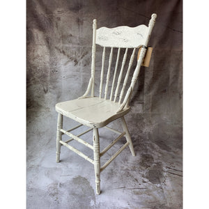 White Pressed Back Chair - Lady of the Lake