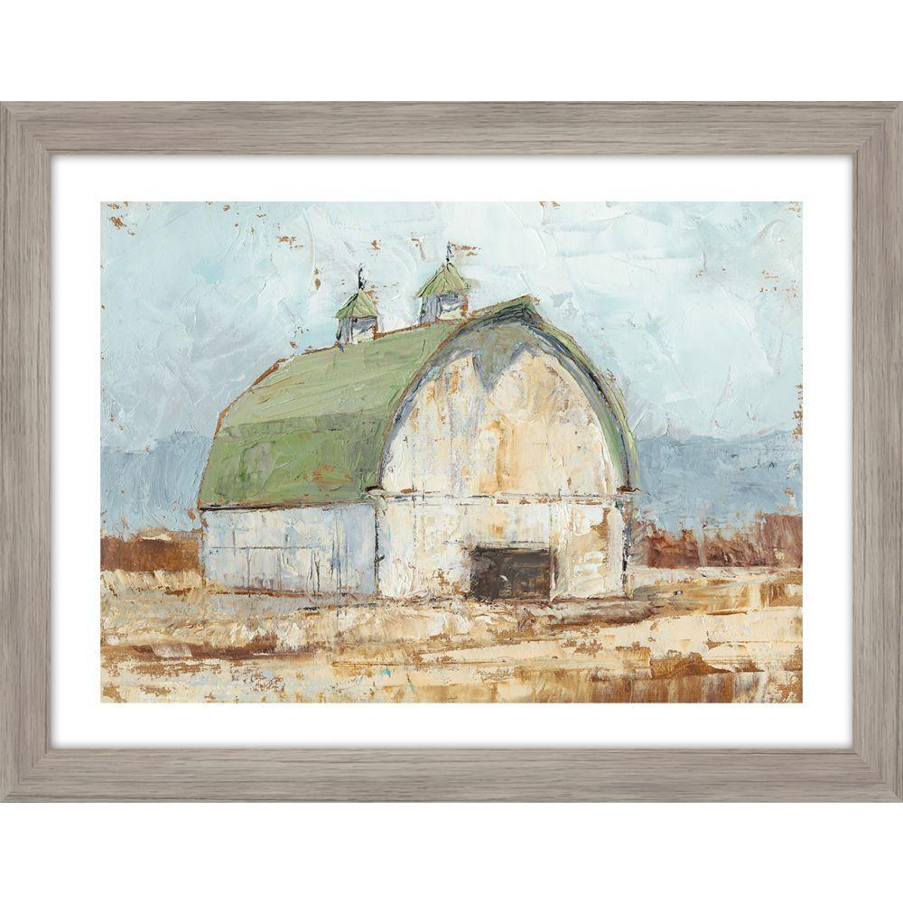 Whitewashed Barn III - Framed Print with Glass - Lady of the Lake