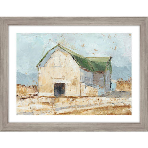 Whitewashed Barn IV - Framed Print with Glass - Lady of the Lake