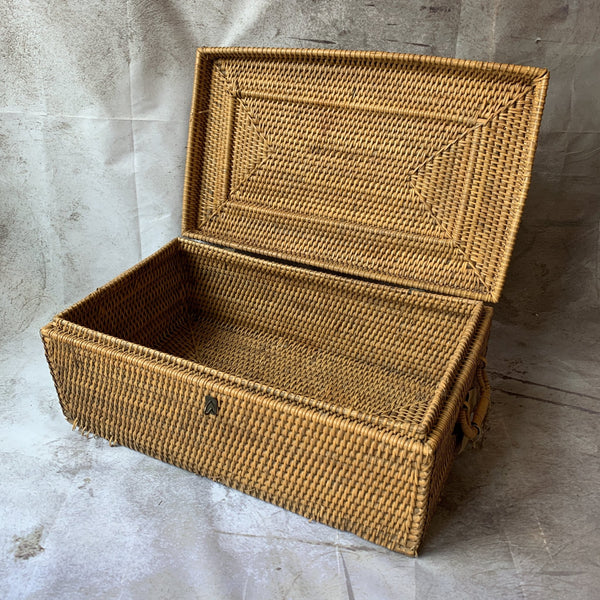 Wicker Suitcase - Lady of the Lake