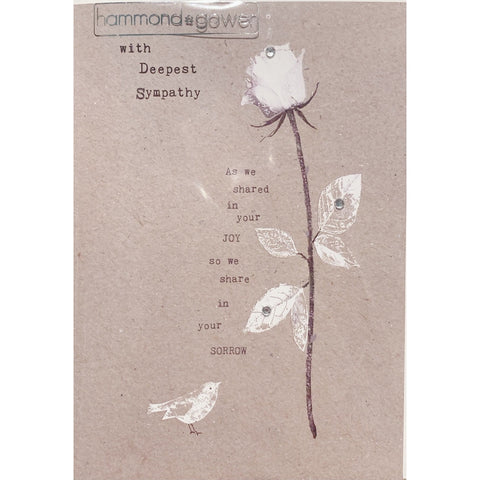 With Deepest Sympathy - Greeting Card - Sympathy - Lady of the Lake