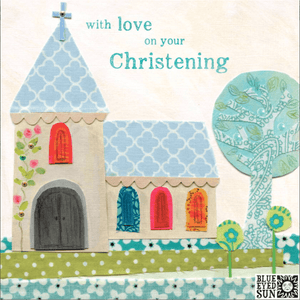 'With Love on your Christening' New Baby Greeting Card - Lady of the Lake