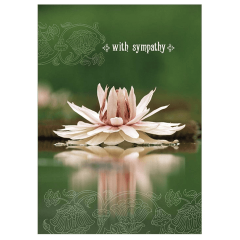 'With Sympathy' Lotus Flower Greeting Card - Lady of the Lake