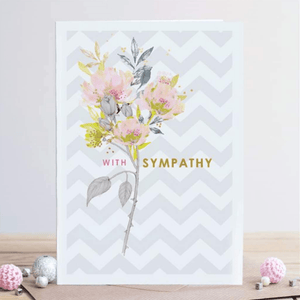 'With Sympathy' Pink Roses Greeting Card - Lady of the Lake