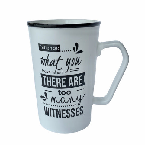 Witnesses - Ceramic Mug in Black or White - Lady of the Lake