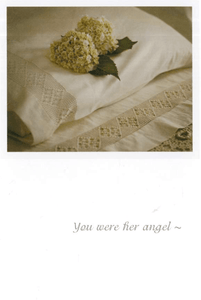 You Were Her Angel - Greeting Card - Sympathy - Lady of the Lake