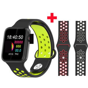 Fitness Smart Watch Alpha Limitless black green red gray