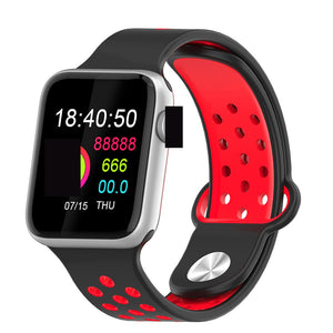 Fitness Smart Watch Alpha Limitless silver black red
