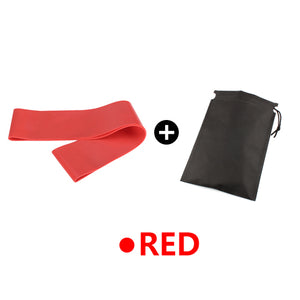 Yoga Elastic Exercise Band Alpha Limitless red with bag