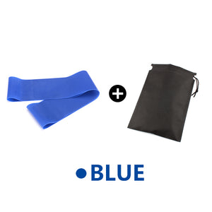 Yoga Elastic Exercise Band Alpha Limitless blue with bag