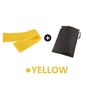 Yoga Elastic Exercise Band Alpha Limitless yellow with bag