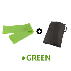 Yoga Elastic Exercise Band Alpha Limitless green with bag