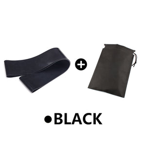 Yoga Elastic Exercise Band Alpha Limitless black with bag