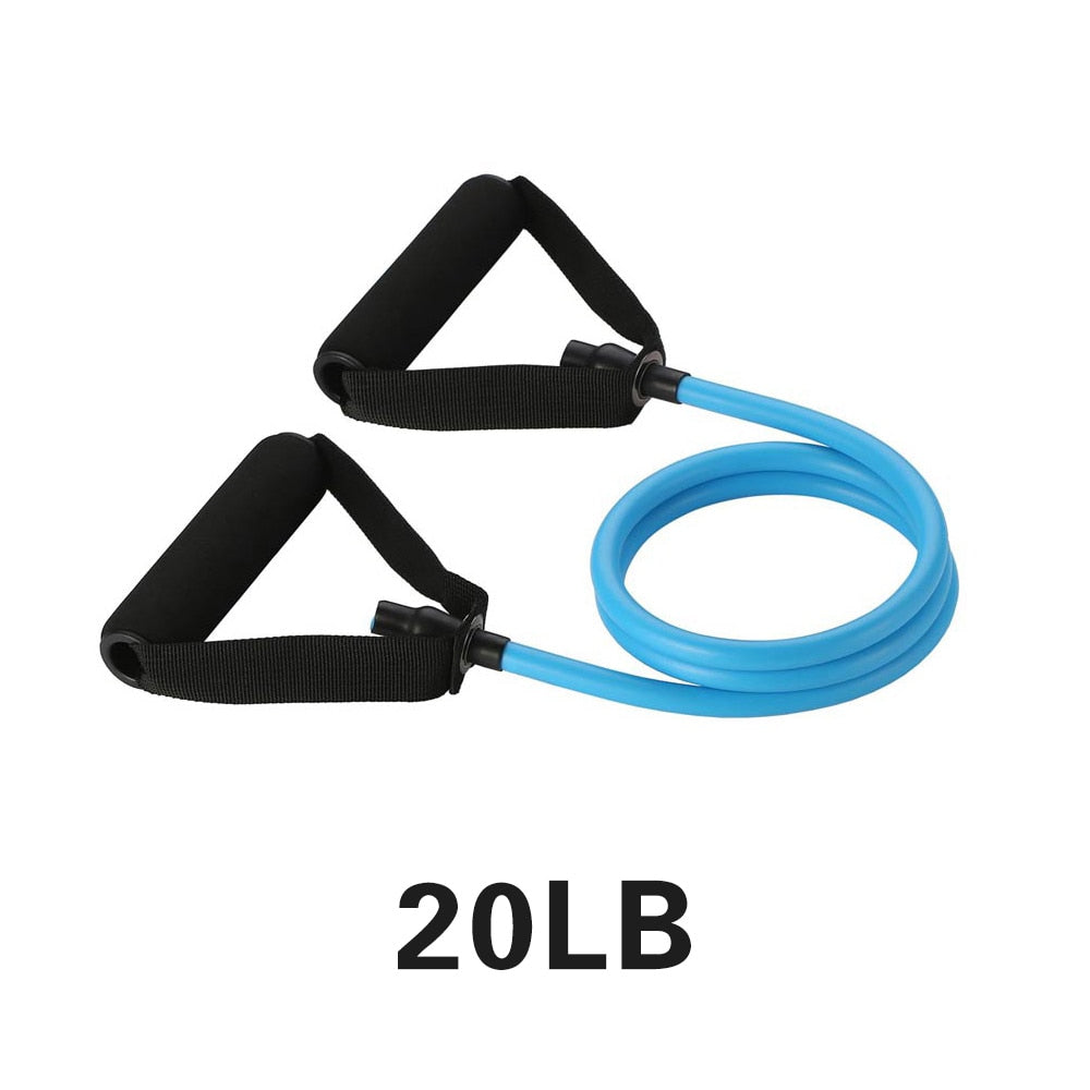 Yoga Pull Rope Resistance Bands Alpha Limitless Blue-20lb