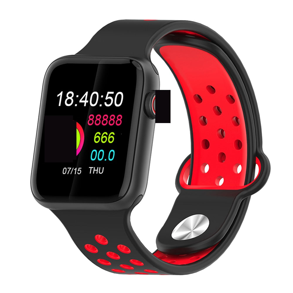 Fitness Smart Watch Alpha Limitless black black red