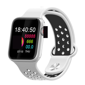 Fitness Smart Watch Alpha Limitless silver white Black