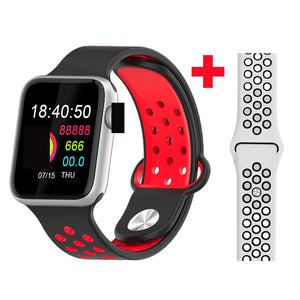 Fitness Smart Watch Alpha Limitless silver red white-1063