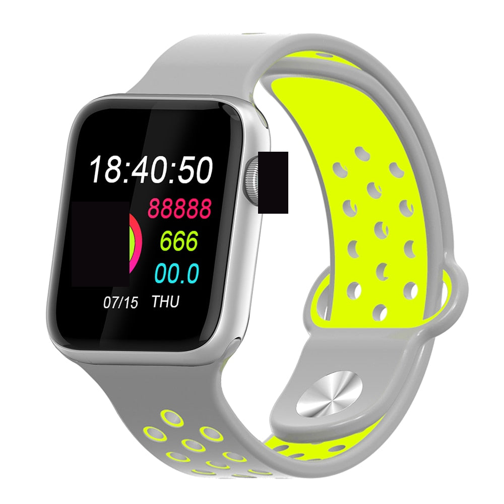 Fitness Smart Watch Alpha Limitless silver grey yellow